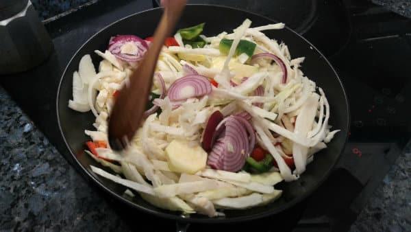 Receta de gambas con verduras y soja