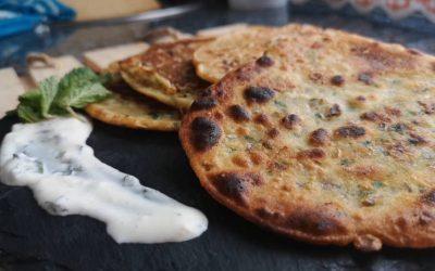 Tortitas de garbanzo y cilantro