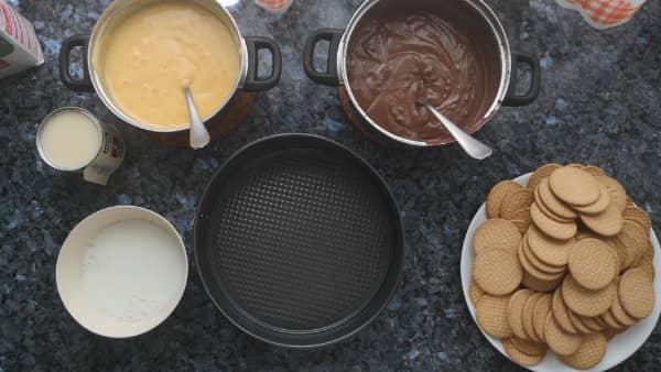como hacer tarta de galletas y chocolate