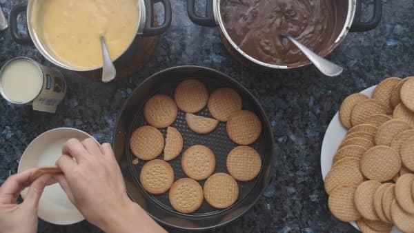 pasos para hacer tarta de galletas y chocolate