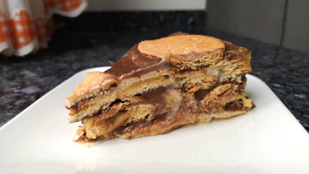 receta de tarta de galletas y chocolate casera