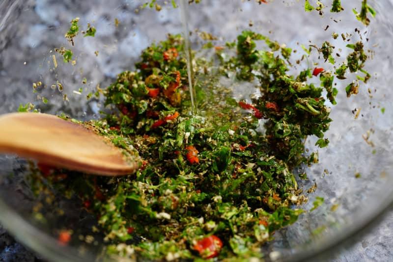 como hacer salsa chimichurri casera