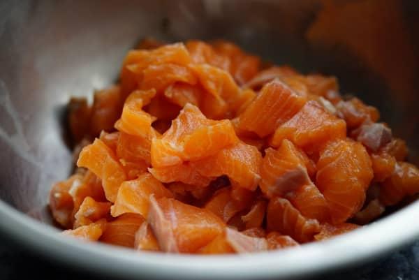 salmon para tartar